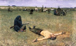 The Prisoner by Henry F. Farny, 1886