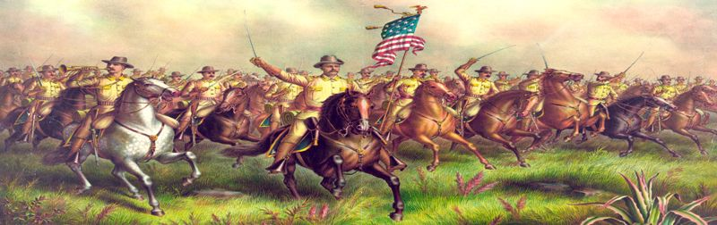 Theodore Roosevelt and the Roughriders by Kurz & Allison