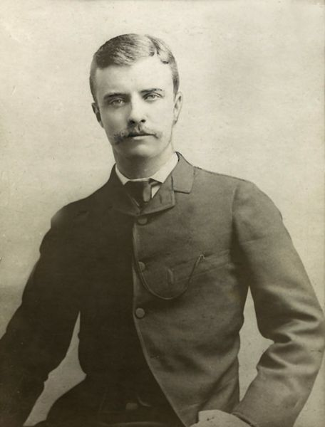 Theodore Roosevelt as a young man.