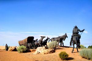 Santa Fe Trail Wagon Sculture in Santa Fe, New Mexico, courtesy National Park Service