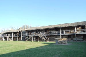 Soldiers Barracks at Fort Gibson, Oklahoma by Kathy Weiser-Alexander.