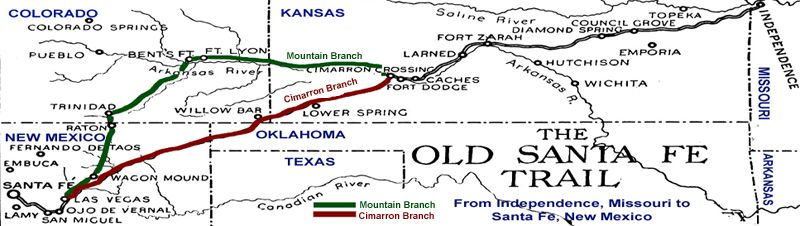 Branches of the Santa Fe Trail