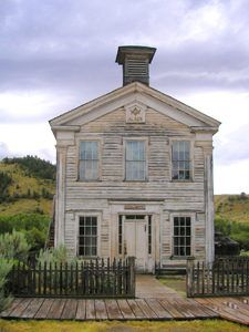 Masonic Lodge in Bannack, Montana by Kathy Weiser-Alexander.