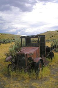 Old truck in Bannack, Montana by Kathy Weiser-Alexander.