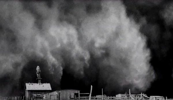 Black Sunday, April 14, 1935, during the Dust Bowl Days.