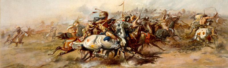 Battle of the Little Bighorn by Charles M. Russell, 1903.