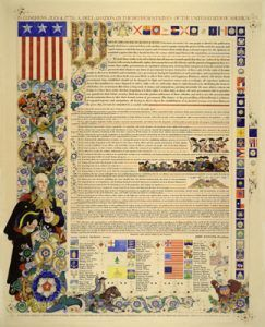 Declaration of Independence by Arthur Szyk