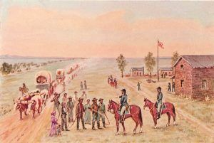 Fort Kearny, Nebraska by William Henry Jackson.