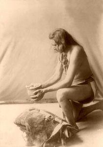 Hidatsa Medicine Man by Edward S. Curtis, 1908.