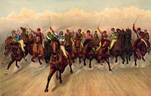 Horse Racing by Currier and Ives, 1888.
