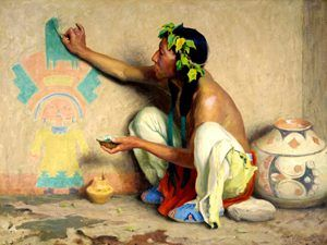 Kachina Painter by E. Irving Couse, 1917