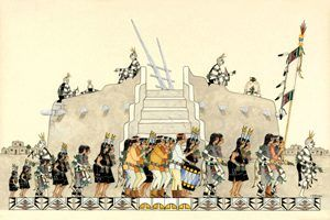 Plaza Procession of Kachinas by J.D. Roybal