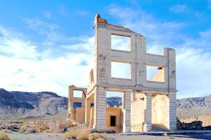 John S. Cook Bank building in Rhyolite, Nevada by Dave Alexander.
