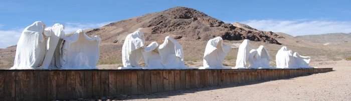 Last Supper sculpture at the Goldwell Museum in Rhyolite, Nevada by Kathy Weiser-Alexander.