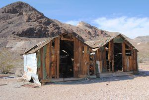 Shacks in Rhyolite, Nevada by Kathy Weiser-Alexander.