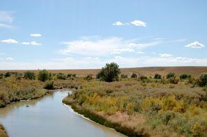 Cimarron River near Springer, New Mexico by Kathy Weiser-Alexander.