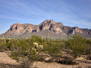 Superstition Mountains west of Phoenix, Arizona by Carol Highsmith.