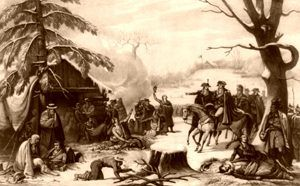 George Washington at Valley Forge in 1777 by P. Haas