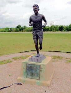 Andy Payne Statue in Foyil, Oklahoma