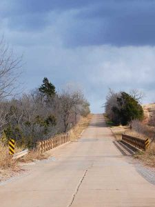 Route 66 Concrete Road between Bridgeport and Hydro, Oklahoma by Kathy Weiser-Alexander.