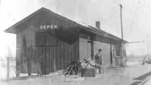 Depew, Oklahoma Railroad Depot
