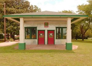 The Texaco Station after much restoration.