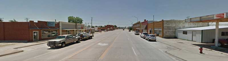 Geary, Oklahoma courtesy Google Maps