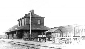 Train Depot in Hydro, Oklahoma.