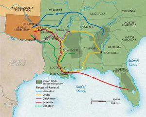 Indian Removal Act Map