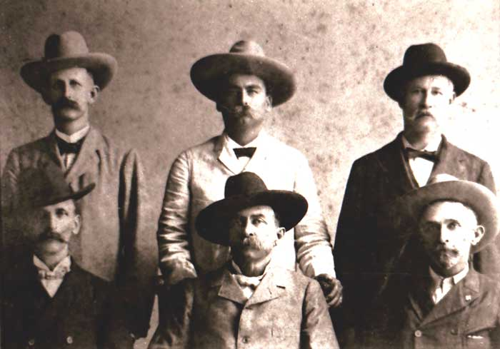 John B. Armstrong (lower-middle) with other Texas Rangers.