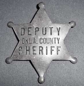Oklahoma County, Oklahoma Deputy Badge