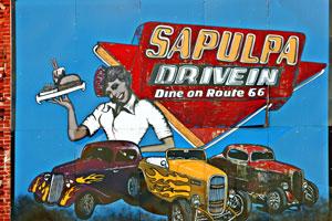 Mural in Sapulpa, Oklahoma