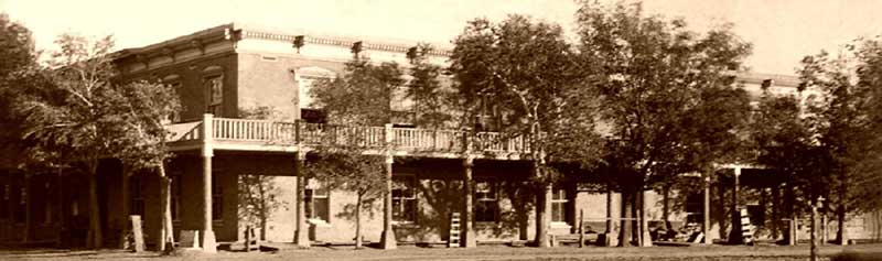 St. James Hotel, Cimarron, New Mexico in the 1800s.