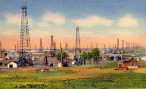 Oil wells in Stroud, Oklahoma