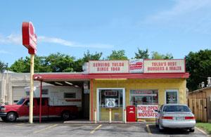 Hanks Hamburgers in Tulsa, Oklahoma by Kathy Weiser-Alexander.