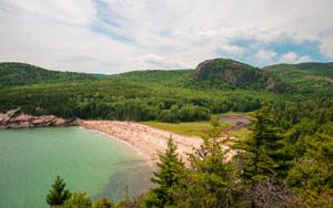 Sand Beach at Arcadia National Park by the National Park Service.