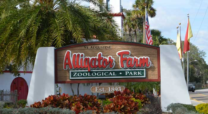 Entrance to St. Augustine Alligator Farm ZooLogical Park