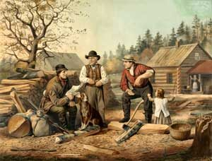 The American Frontier by Nathaniel Currier.