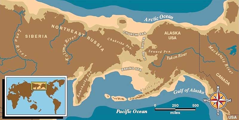 Bering Land Bridge courtesy National Park Service.