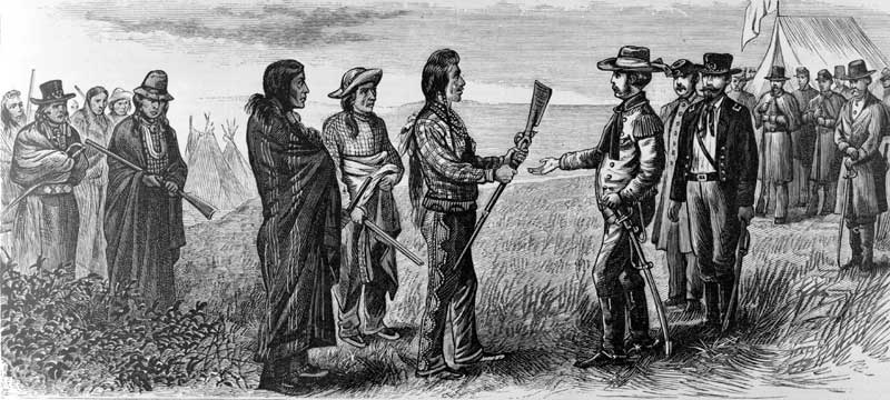 Chief Joseph Surrenders by G.M. Holland. 1877
