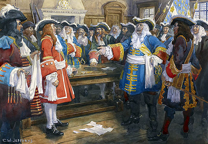 Count Frontenac, governor of New France, refused English demands to surrender prior to the Battle of Quebec.