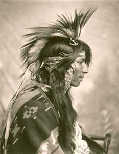 Cree Indian Man by G.e. Fleming, 1903.