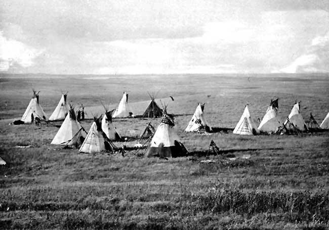 Cree Camp, Alberta, Canada, 1871