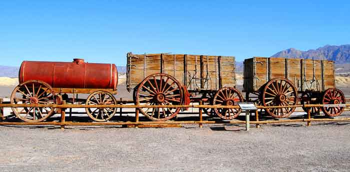 Death Valley - 20 Mule Team Wagons