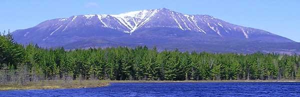 Mount Katahdin, Maine, a sacred mountain of the Penobscot, courtesy Wikipedia.