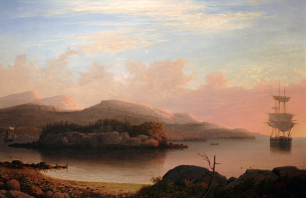 Off Mount Desert Island, Maine by Fitz Henry Lane, 1856