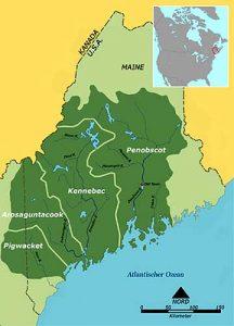 Wabanaki Confederacy in Maine, courtesy Wikipedia.