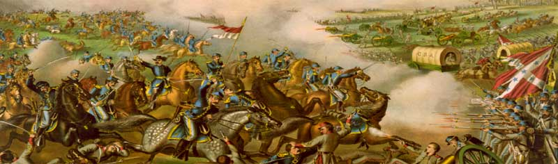 Battle of Five Forks, Virginia by Kurz & Allison