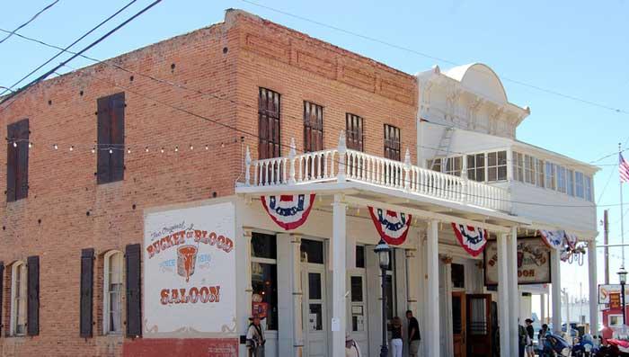 Bucket of Blood Saloon in Virginia City, Nevada by Kathy Weiser-Alexander.