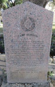 Camp Hudson, Texas Historical Marker.